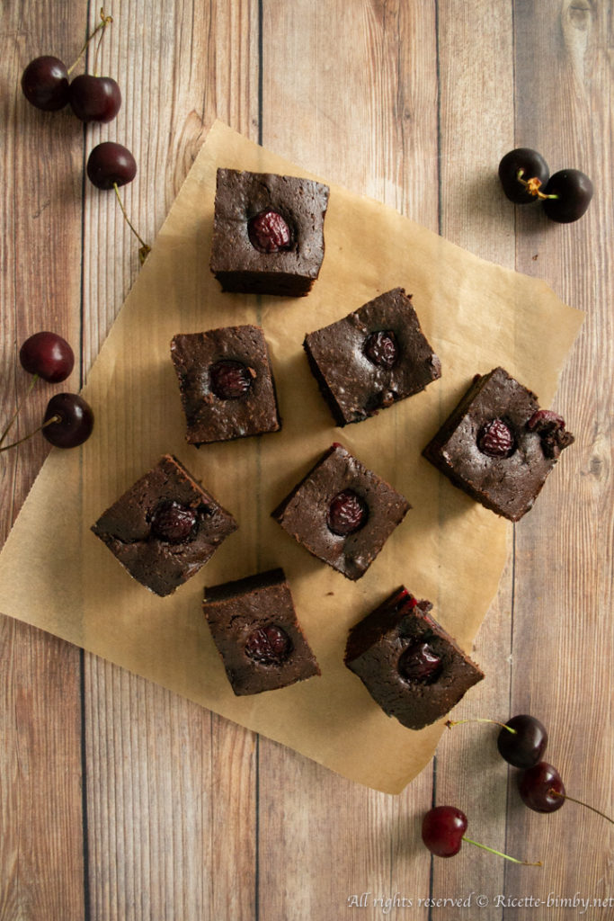 Brownies alle ciliegie bimby