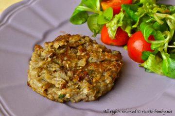 Burger vegetariano di melanzane Bimby